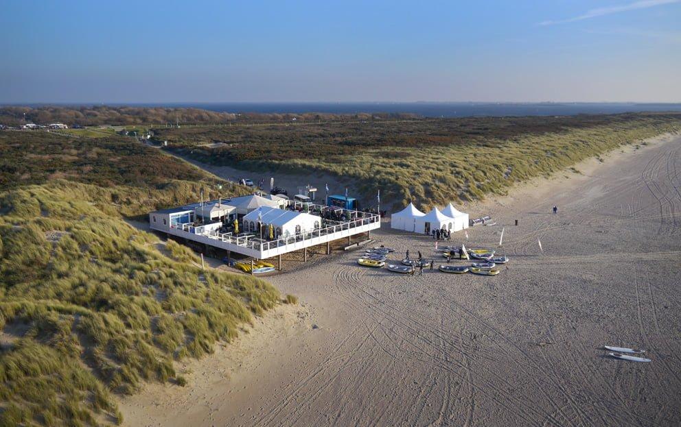 Luchtfoto gemaakt in Zeeland met een drone.