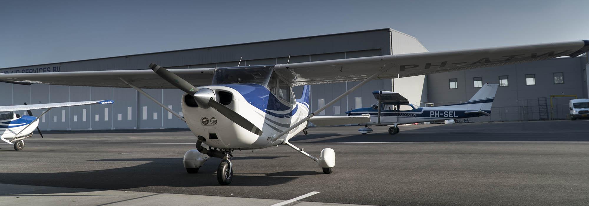 Een luchtfoto gemaakt vanuit een vliegtuig is ook mogelijk