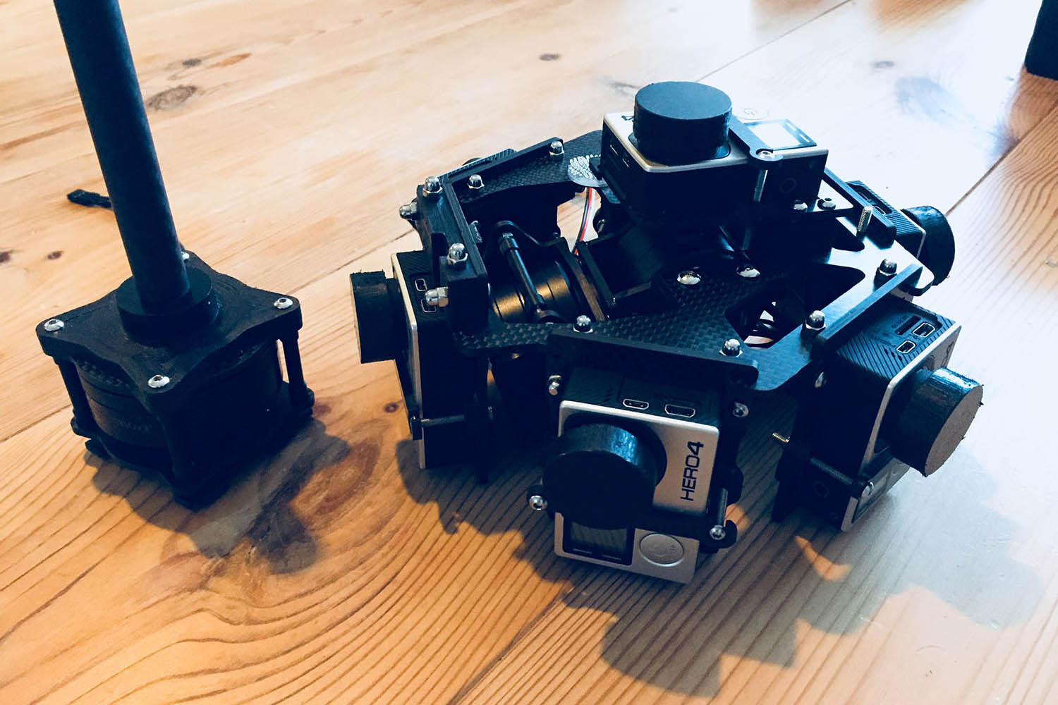 360 VR drone gimbal with 7 GoPro's