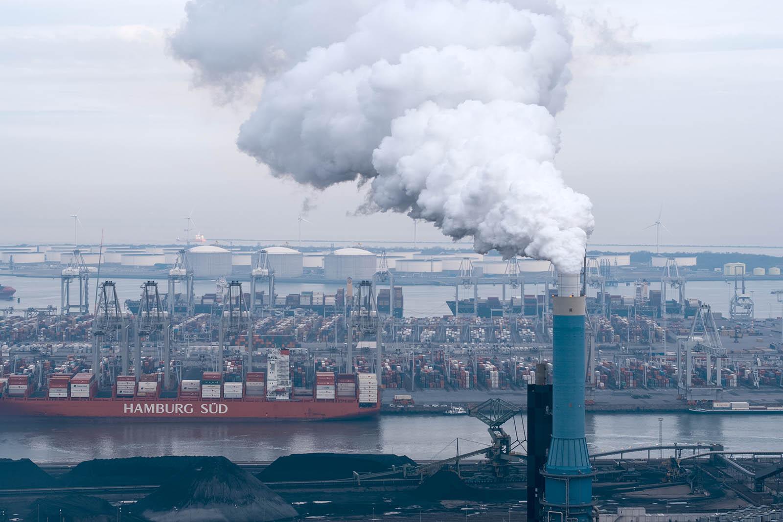 Luchtfotografie op de 2e Maasvlakte in Zuid-Holland