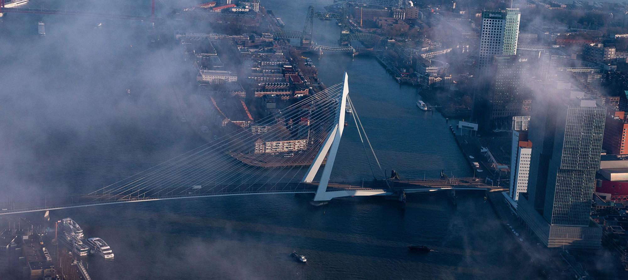 Drone opnames Rotterdam