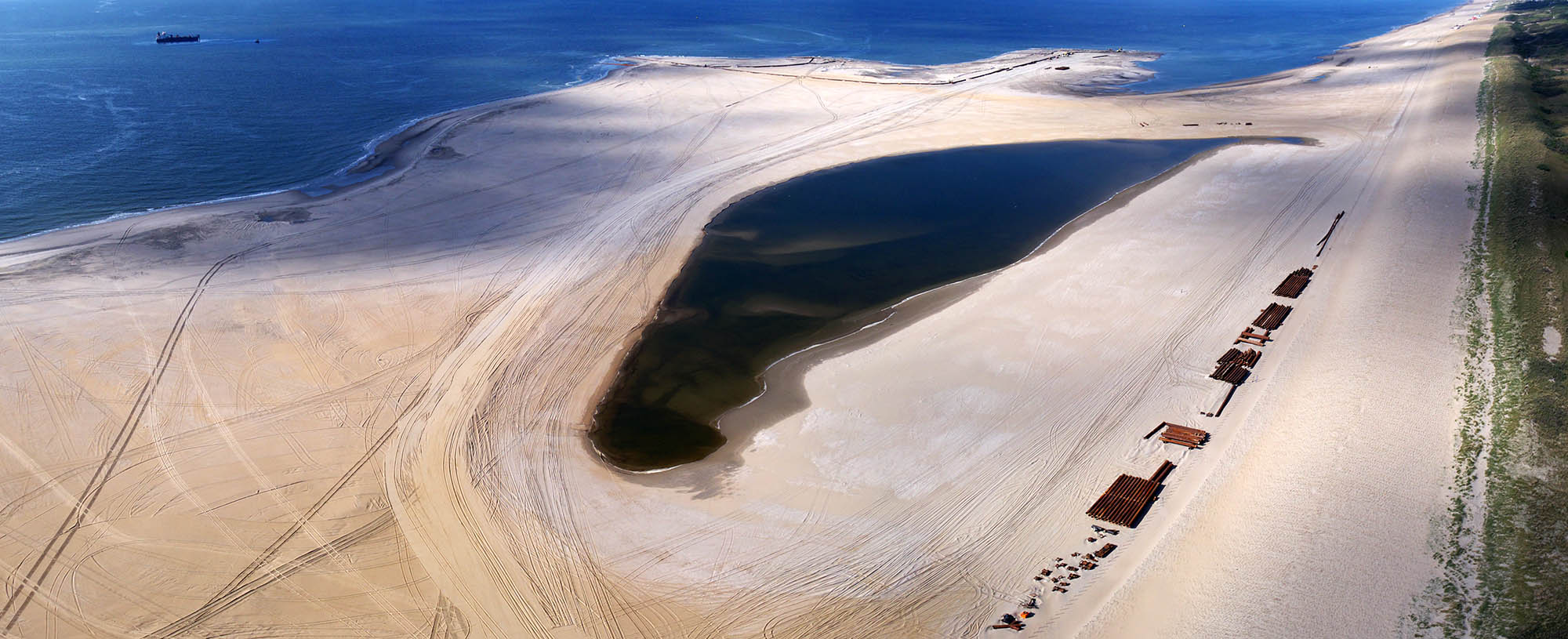 De Zandmotor Ter Heijde - luchtfoto