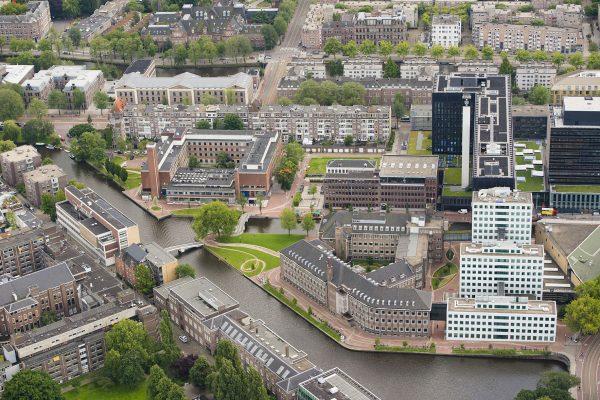 Luchtfoto UvA Amsterdam