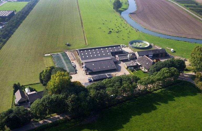 Een luchtfoto in Gelderland