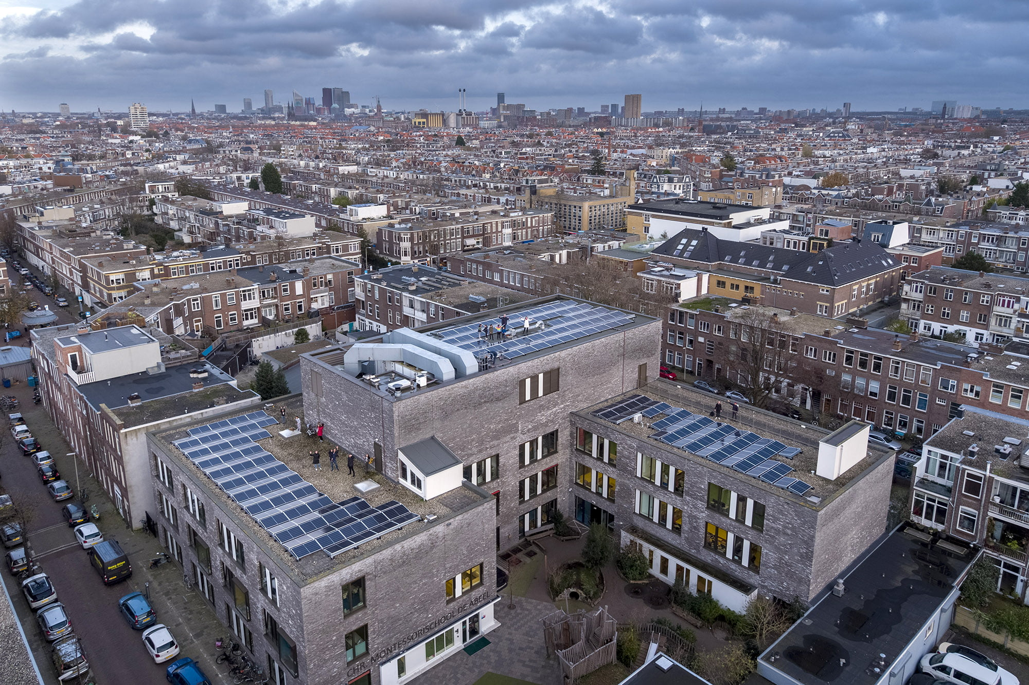 Drone opnames Den Haag