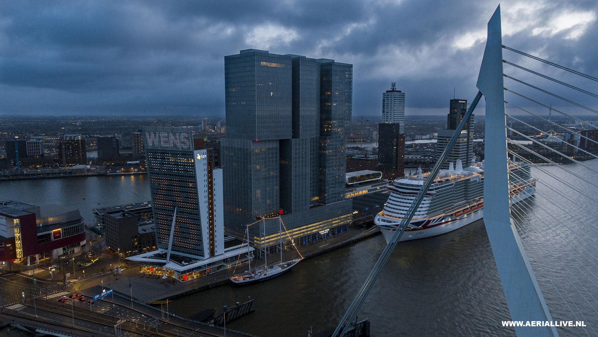 Drone opname bedrijf in Rotterdam